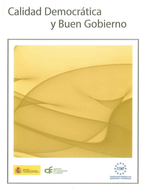 Portada libro calidad democrática y buen gobierno